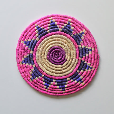 Pink plate, Wall Decor, Kitchen trivet, Mandala decoration