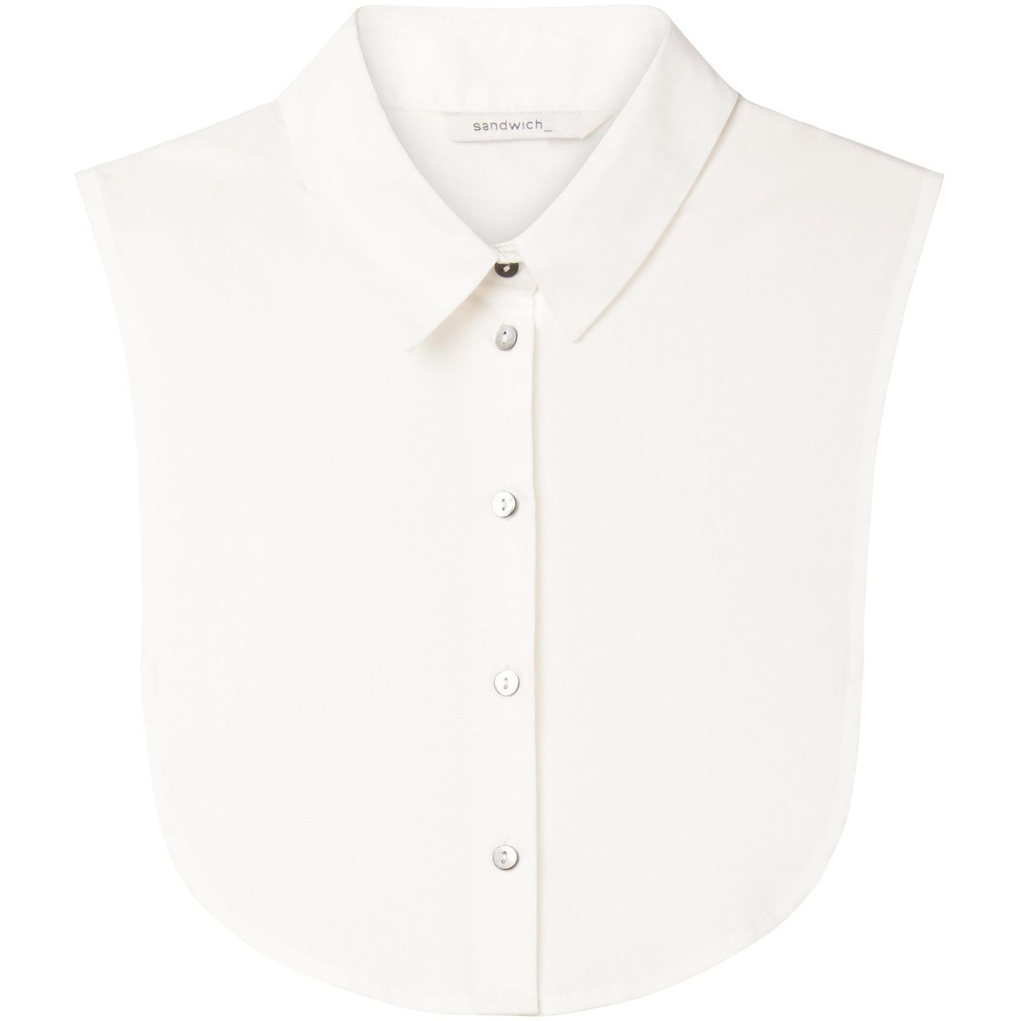 Sandwich Clothing | Bib Collar in Spring white - BOUTIQUE ELEVEN
