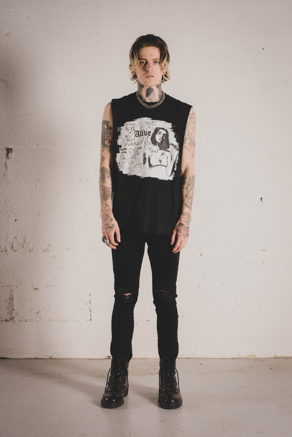 Restless Tank - Alive Denim, Rock n Roll Denim, Contemporary Denim Brand, Alive Denim Jeans Denim Jackets, Vintage T-Shirts and Vintage Hoodies