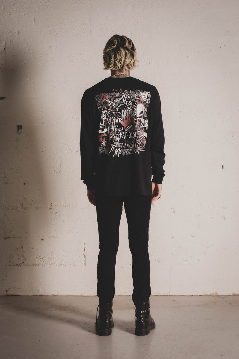High Voltage Tour L/S Tee - Alive Denim, Rock n Roll Denim, Contemporary Denim Brand, Alive Denim Jeans Denim Jackets, Vintage T-Shirts and Vintage Hoodies