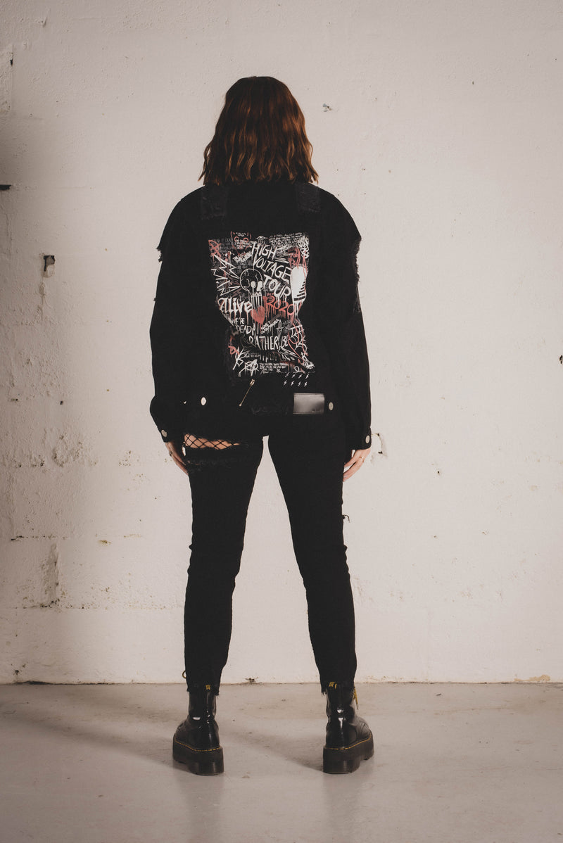 High Voltage Riot Trucker Jacket - Alive Denim, Rock n Roll Denim, Contemporary Denim Brand, Alive Denim Jeans Denim Jackets, Vintage T-Shirts and Vintage Hoodies