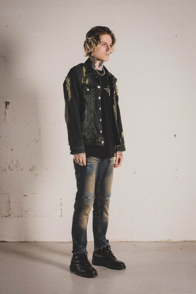 Idol Riot Trucker Jacket - Alive Denim, Rock n Roll Denim, Contemporary Denim Brand, Alive Denim Jeans Denim Jackets, Vintage T-Shirts and Vintage Hoodies