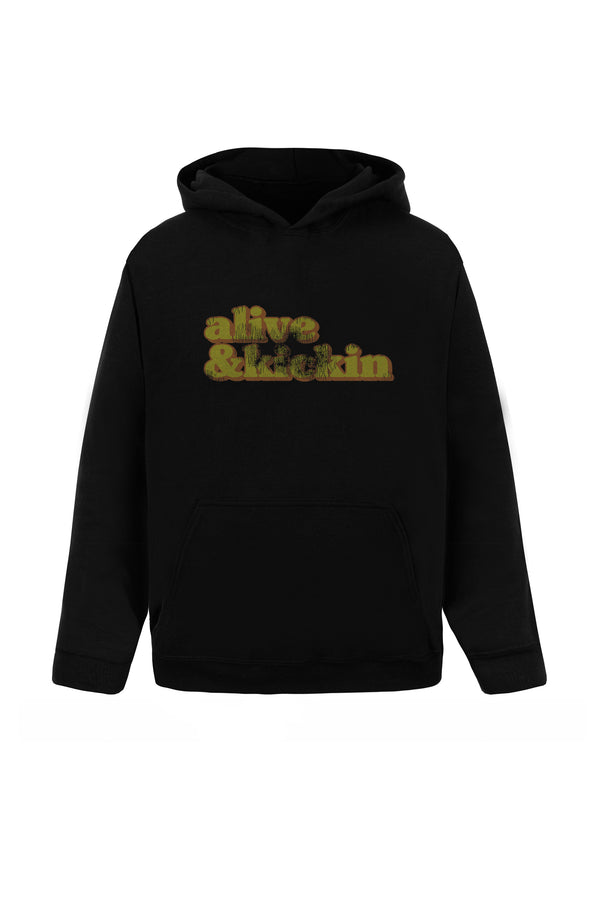 Alive & Kicking Hoodie - Alive Denim, Rock n Roll Denim, Contemporary Denim Brand, Alive Denim Jeans Denim Jackets, Vintage T-Shirts and Vintage Hoodies