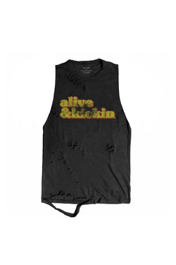 Alive & Kicking Tank - Alive Denim, Rock n Roll Denim, Contemporary Denim Brand, Alive Denim Jeans Denim Jackets, Vintage T-Shirts and Vintage Hoodies