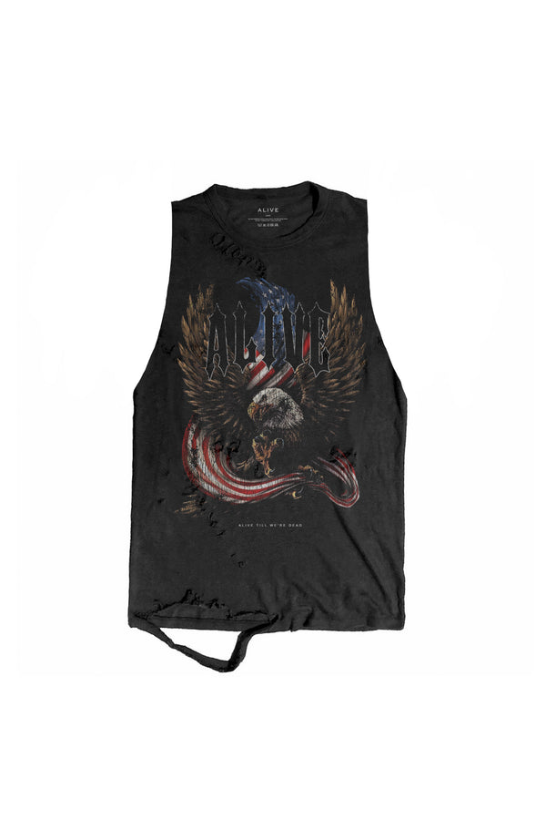 Freedom Tank - Alive Denim, Rock n Roll Denim, Contemporary Denim Brand, Alive Denim Jeans Denim Jackets, Vintage T-Shirts and Vintage Hoodies