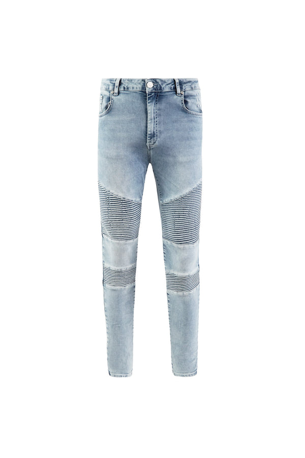 Biker Jeans | Vintage Wash Blue - Alive Denim, Rock n Roll Denim, Contemporary Denim Brand, Alive Denim Jeans Denim Jackets, Vintage T-Shirts and Vintage Hoodies