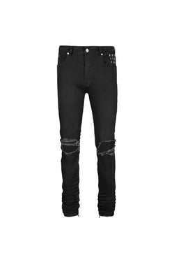 Stacked Blownout Zip Jeans | Jet Black - Alive Denim, Rock n Roll Denim, Contemporary Denim Brand, Alive Denim Jeans Denim Jackets, Vintage T-Shirts and Vintage Hoodies