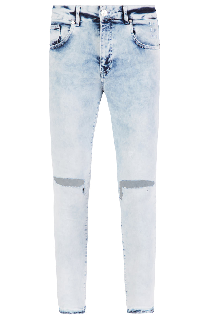 RAW EDGE EXTREME RIP JEANS | ACID WASH BLUE - Alive Denim, Rock n Roll Denim, Contemporary Denim Brand, Alive Denim Jeans Denim Jackets, Vintage T-Shirts and Vintage Hoodies