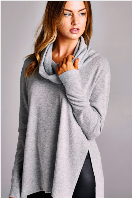 Dropped Neck Sweater - Dash Posh Boutique