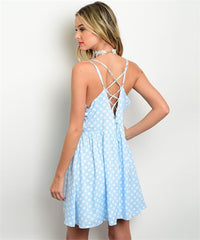 Polka Dot Blue Dress