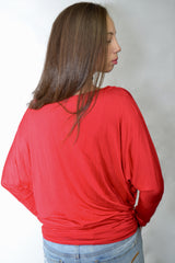 Sweet Red Long Sleeve - Dash Posh Boutique