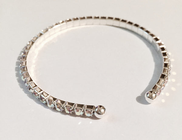 Dana Silver Crystal Bangle