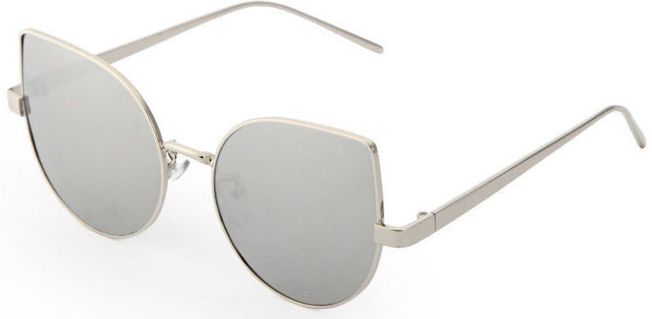 Gray Mirror Cat Eye Sunglasses