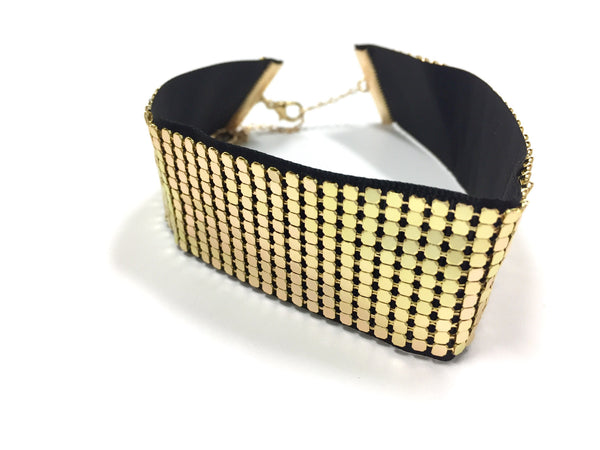 Large Band Gold Choker