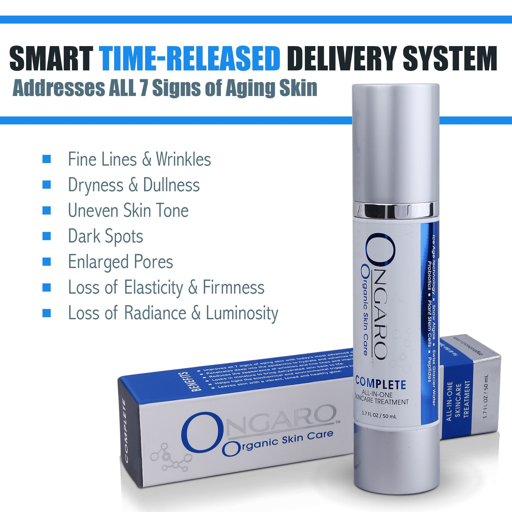 Complete All-In-One Skincare Treatment | Ongaro Beauty 1.7oz