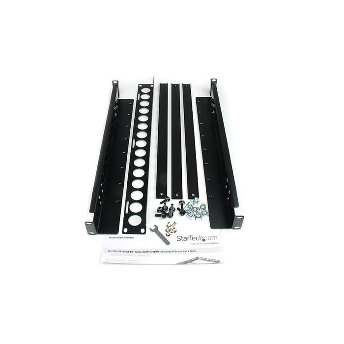 "1U Fixed 19"" Adjustable Depth Universal Server Rack Rails"