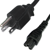 USA 3-Pin to IEC C5 Clover Leaf Power Cord 2m