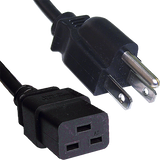 USA 3-Pin to IEC C19 Female Power Cord 2m