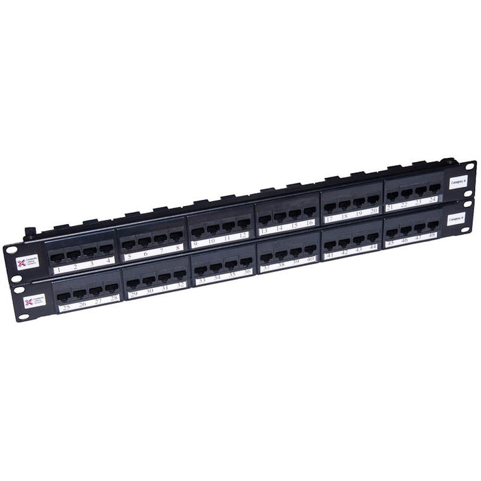 48 Way Cat6 2u UTP Elite Patch Panel