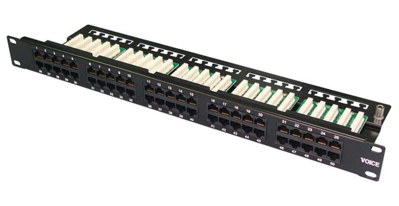 50 Way High Density Voice Patch Panels