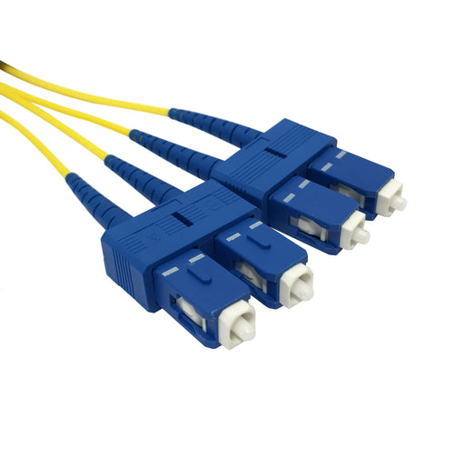 SC-SC Singlemode (9-125) Duplex Fibre Patch Lead - Datazonedirect