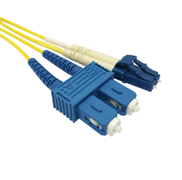 SC-LC Singlemode (9-125) Duplex Fibre Patch Lead - Datazonedirect