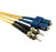ST-SC Singlemode (9-125) Duplex Fibre Patch Lead - Datazonedirect