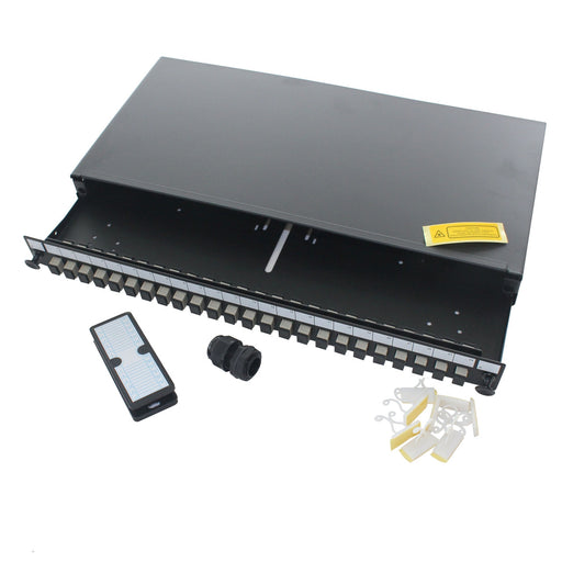 "19"" 1U SC Simplex Multimode Sliding Patch Panel"
