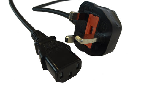 UK Mains - IEC C13 Female Cable 3 Pin Plug