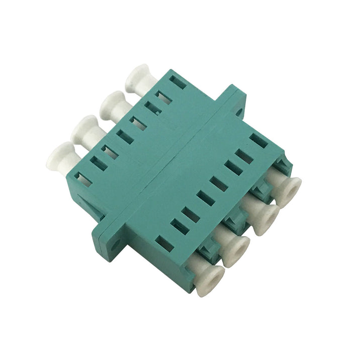 LC Multimode Aqua Quad Adaptor