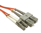 OM2 50/125 Fibre Optic LC-SC Duplex Patchlead