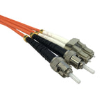OM2 50/125 Fibre Optic LC-ST Duplex Patchlead