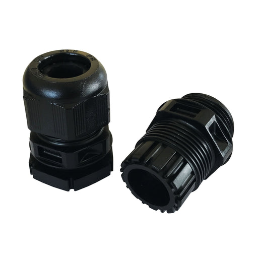 M25 Cable Gland and Nut- Black (pack of 10)
