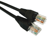 Cat5e Black Outdoor External RJ45 Ethernet Patchlead