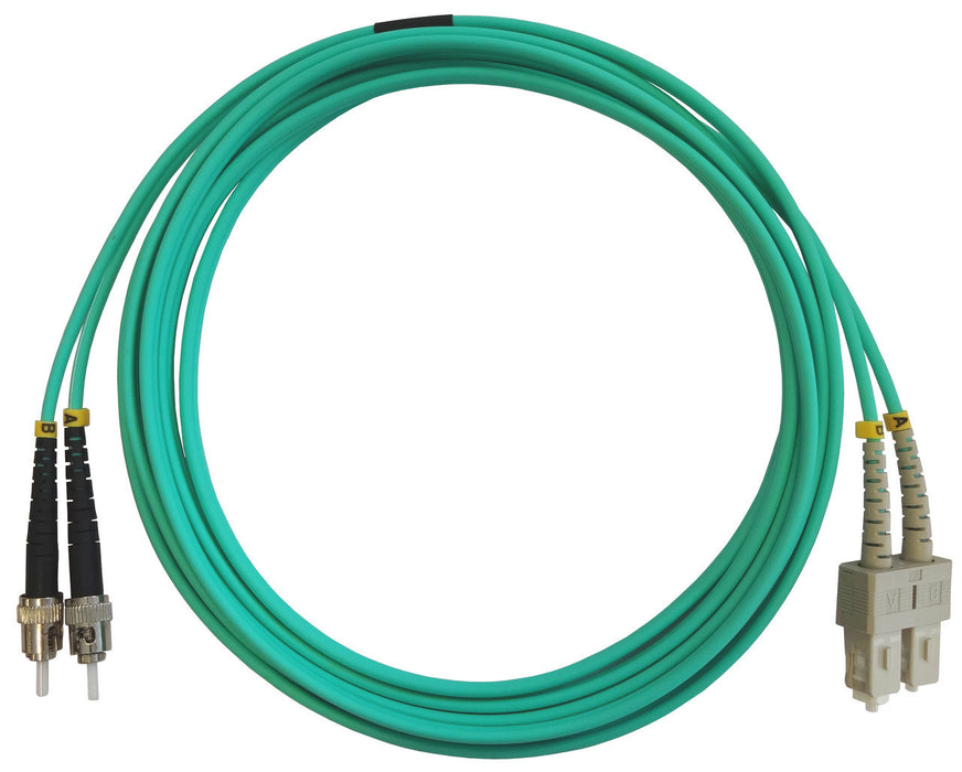 OM3 50/125 Fibre Optic SC-ST Duplex Patchlead