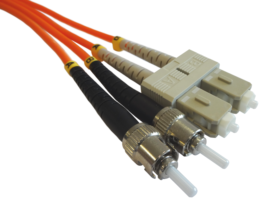 OM2 50/125 Fibre Optic SC-ST Duplex Patchlead