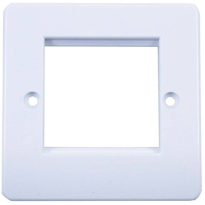 Single Gang Square Faceplates - 2 Port