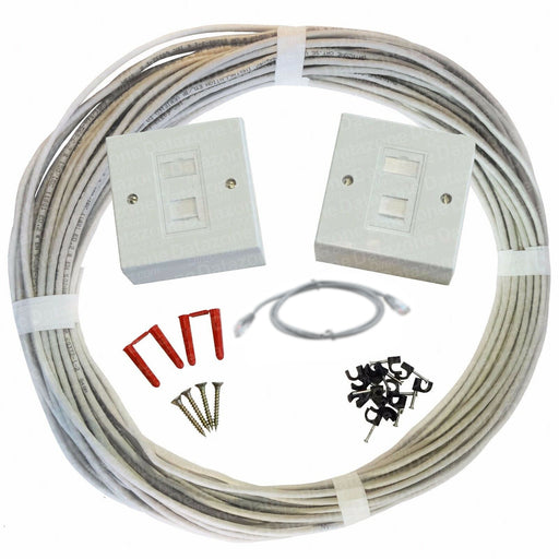 10m to 100m Cat5e Internal PVC Socket to Socket Network Extension Kit