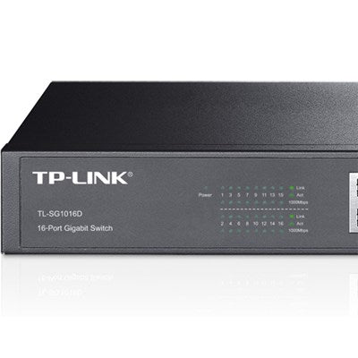 TP-LINK TL-SG1016D 16-Port Unmanaged Gigabit Desktop Switch