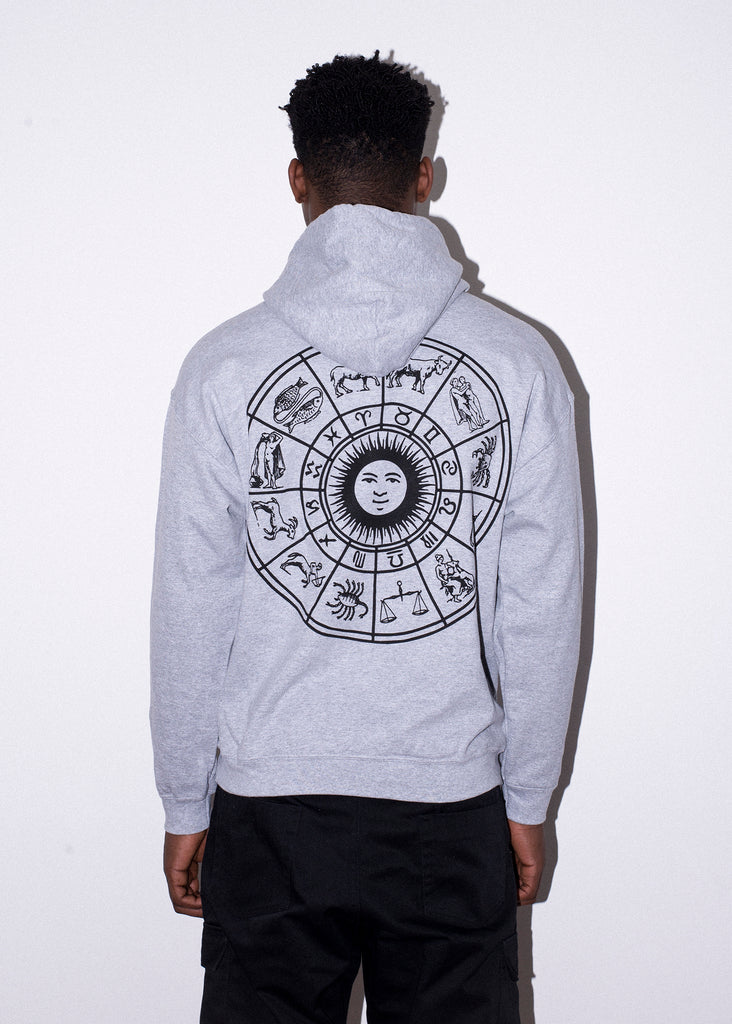 ZODIAC WHEEL GREY HOOD