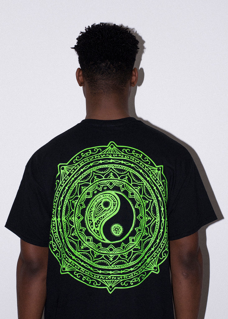 YING YANG GREEN AND PINK TEE