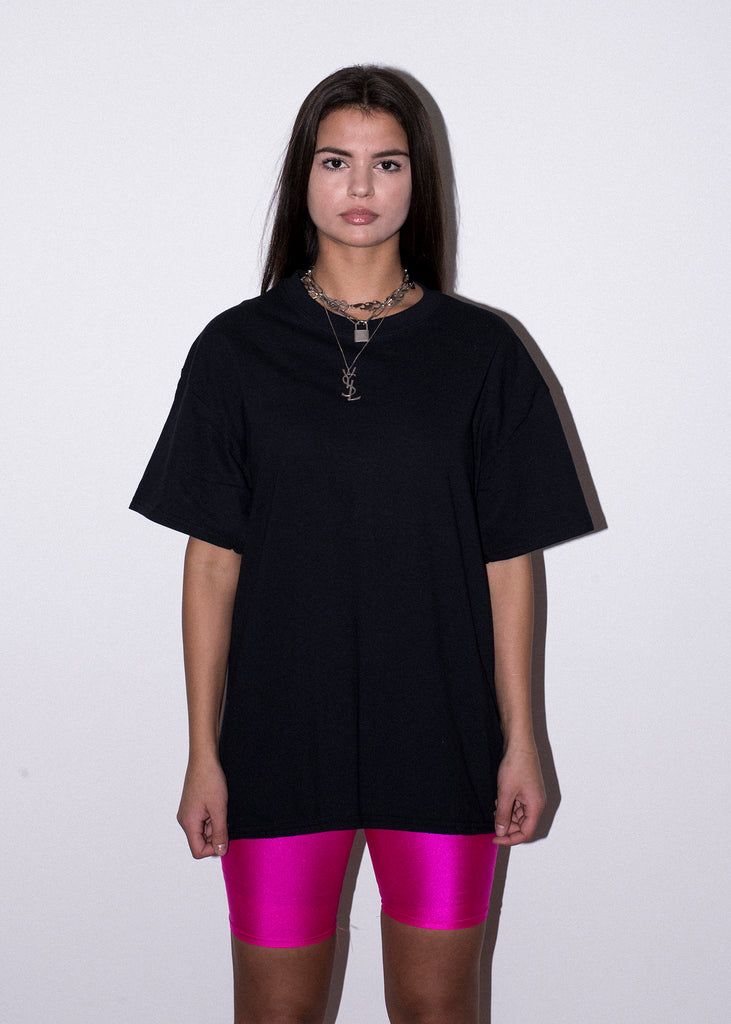 PINK ZODIAC WHEEL BLACK TEE