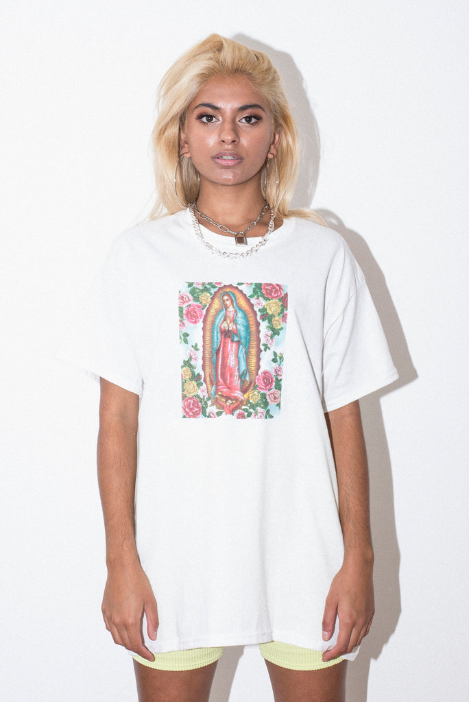 MARY ROSE (SML) WHITE TEE