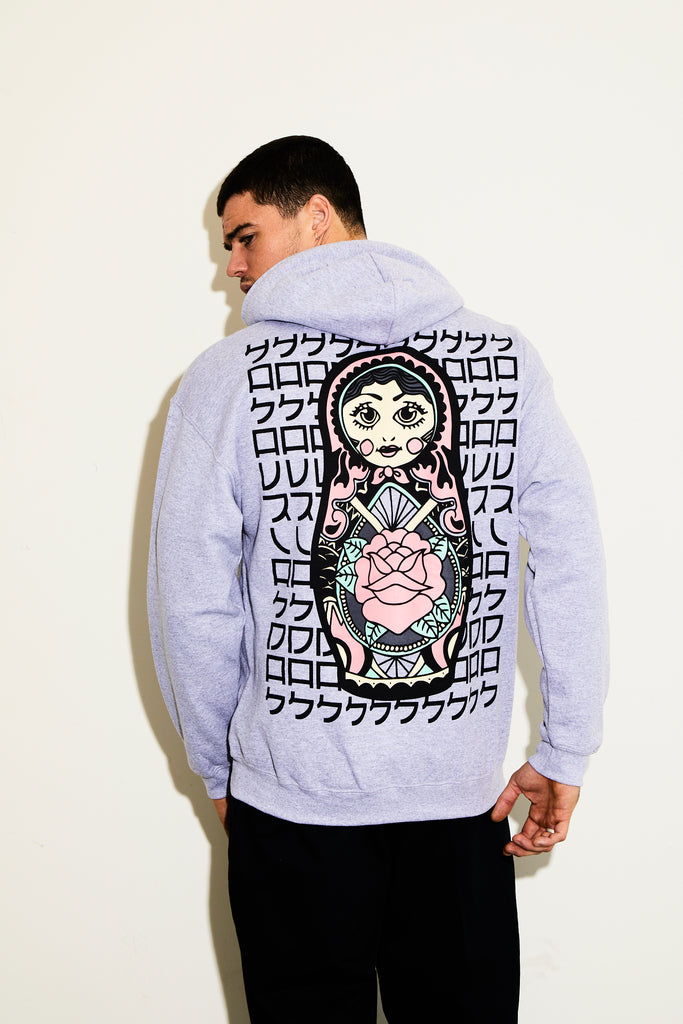 RUSSIAN DOLL GREY HOODY