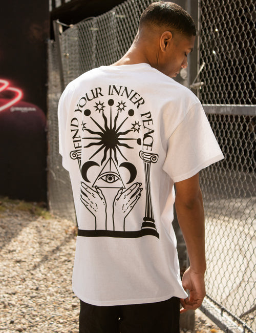 FIND YOUR INNER PEACE WHITE TEE