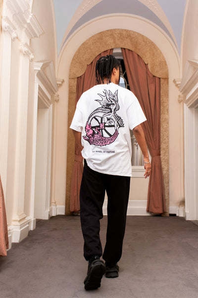 WHEEL OF FORTUNE WHITE TEE