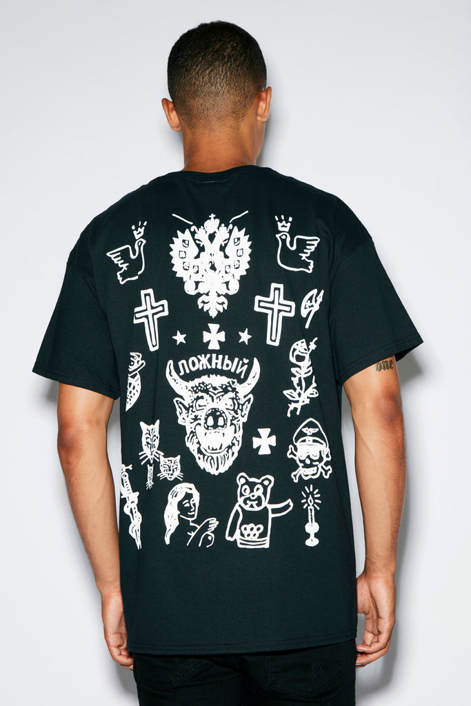 HNR LDN Tattoo Black Tee