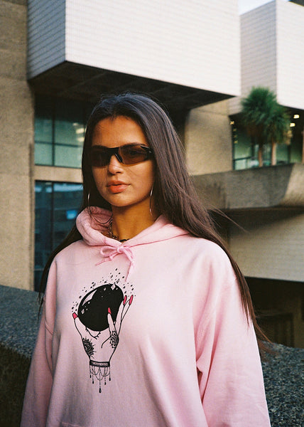 WMNS CRYSTAL BALL PINK HOOD