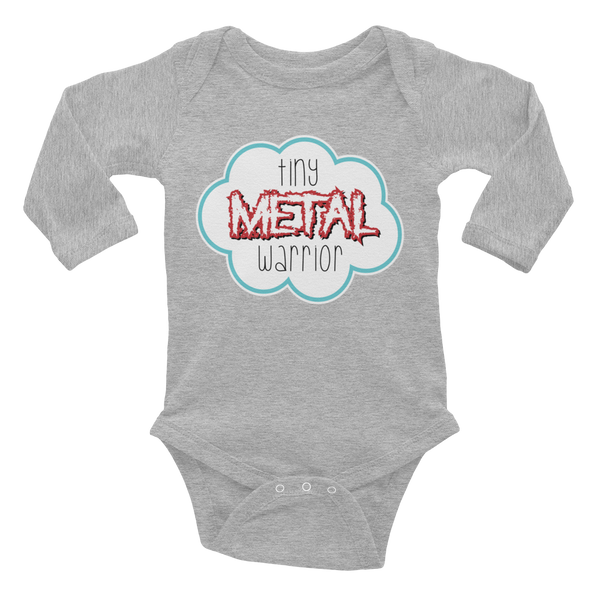 Metal Warrior Infant long sleeve one-piece