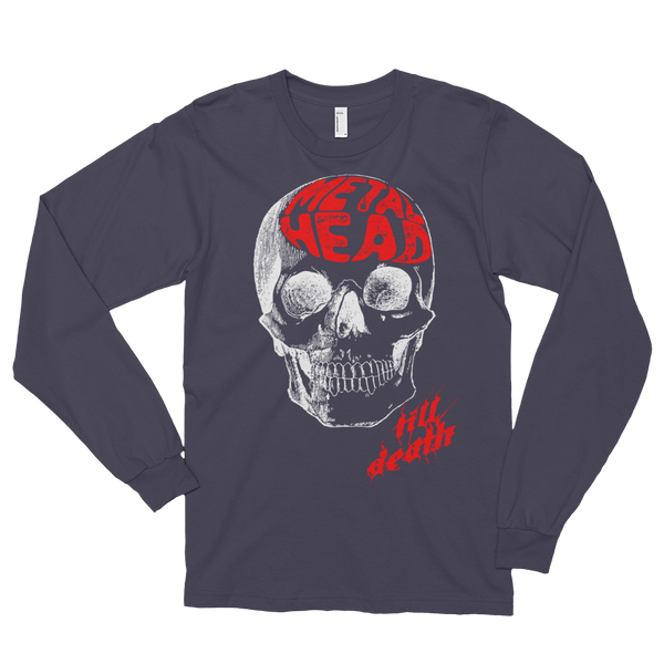 Metal Head Skull Long sleeve (unisex)